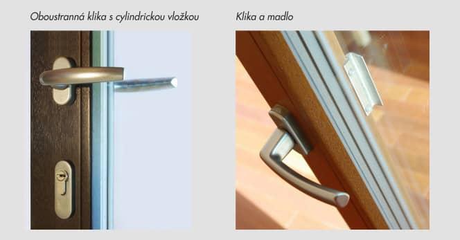 Kliky na balkonové dveře