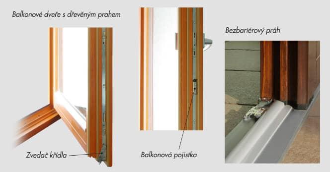 Kování balkonových dveří
