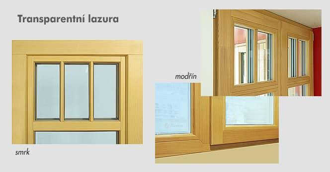 Transparentní lazury na okna
