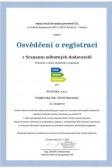 Osvědčení o registraci v Seznamu odborných dodavatelů