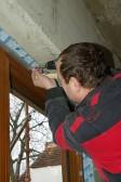 Těsnění připojovací spáry okna