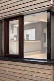 Kombinace bezrámového okna BLUE LINE a otevíracího okna INSPIRO