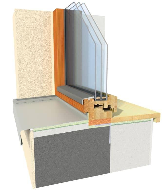 Dřevěné okno INSPIRO - řez