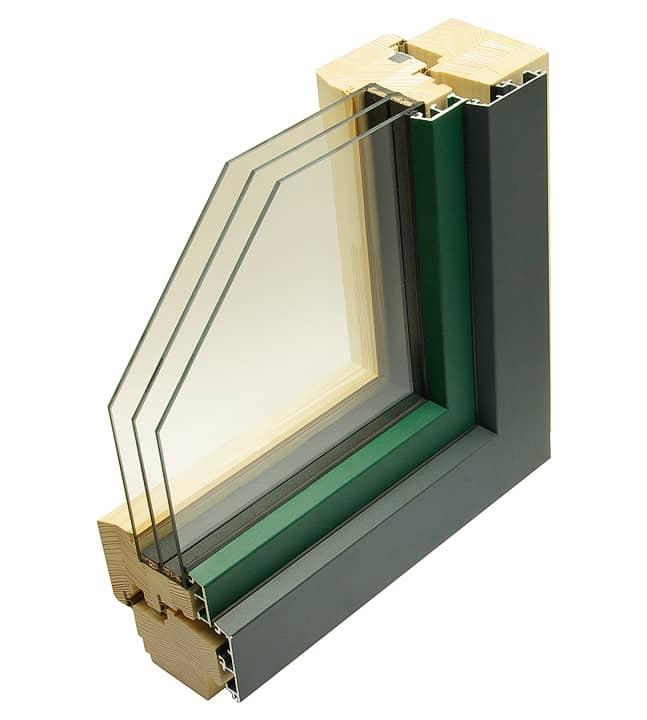 HA110 LINE - dřevohliníkové okno