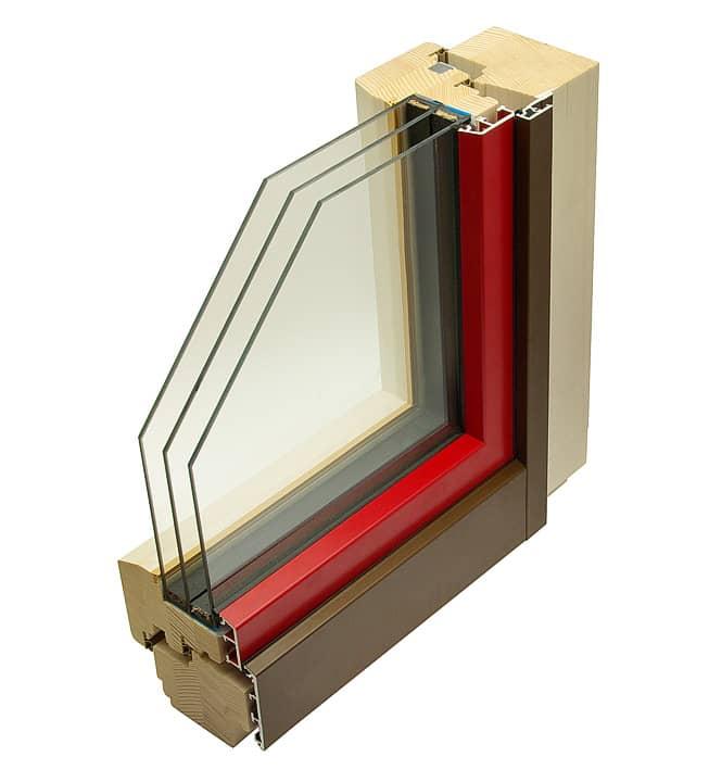 HA110 LITE - dřevohliníkové okno