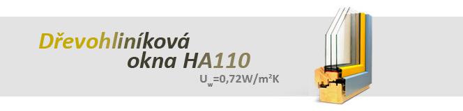 Dřevohliníková okna HA110