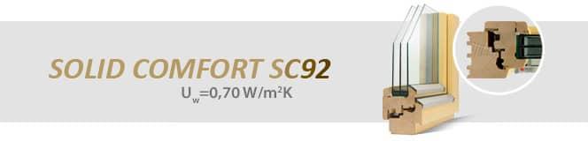 Dřevěná okna SOLID COMFORT SC92
