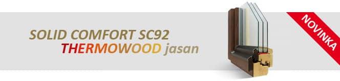 Dřevěná okna SOLID COMFORT SC92 Thermowood jasan