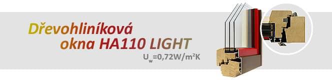Dřevohliníková okna HA110 LIGHT