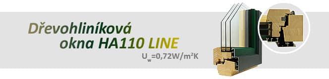 Dřevohliníková okna HA110 LINE