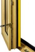 Dvoukřídlové okno - rozvora, celoobvodové kování i na druhém křídle