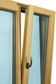 Dřevohliníkové okno - interiér