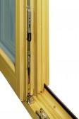 Kování dvoukřídlového okna