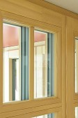 Sklodělící a nalepovací příčky (okno SC92 z modřínu)