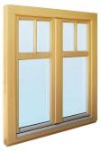 Modřínové okno SC92 s příčkami