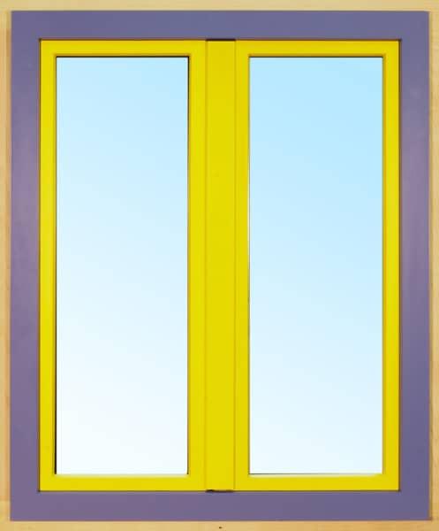 Dvoukřídlové dřevohliníkové okno