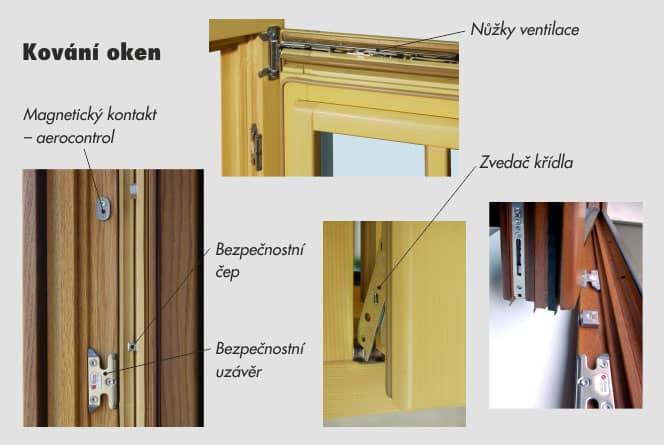 Kování dřevěných oken: SIEGENIA AUBI TITAN AF