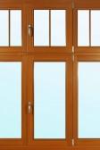 Okno s nadsvětlíky, nalepovacími příčkami, ozdobnými prvky