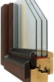 Dřevěné eurookno SC92 - thermowood jasan