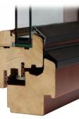 Dřevěné eurookno SC78 s dvojsklem, Uw=1,1