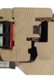 Dřevěné eurookno SC78 s trojsklem - vodorovný řez