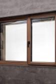 Fixní a otevíravé okno PROGRESSION, dřevina ořech