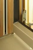 Okapnice RAL9007 + vnější rám Thermowood šedý