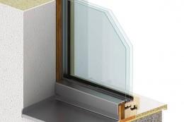Okno PROGRESSION zvenku - skrytý rám okna