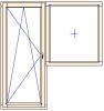 Balkonové dveře a neotevírané okno