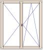 Balkonové dveře dvoukřídlové otevíravé + otevíravé sklopné