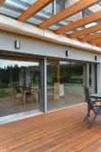 Maximální plocha zasklení poskytuje vysoké solární zisky