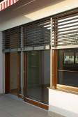 Dřevěný HS portal HA92 - stínění žaluziemi