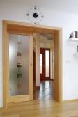 Posuvné dveře olše, pískované sklo
