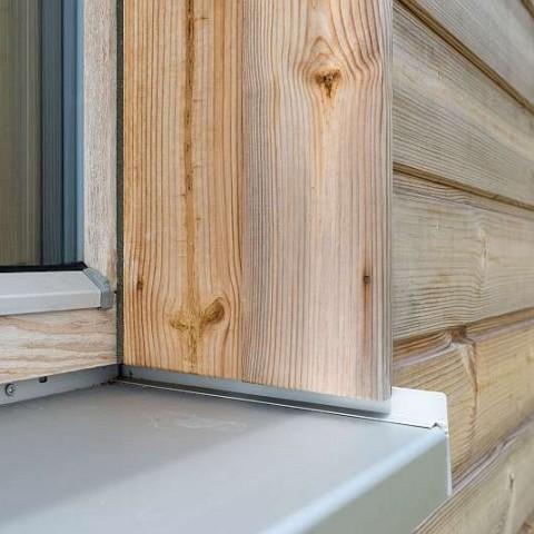 Dřevěné okno SC92-Thermowood a fasáda Thermowood