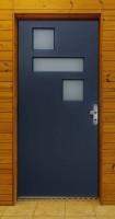Vchodové dveře PAOLO - profil PROGRESSION, rám je krytý za fasádou