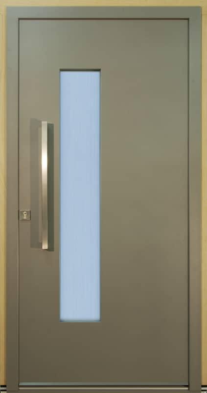 Dřevohliníkové vchodové dveře - konstrukce TREND