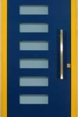 ARIDE - dřevohliníkové vchodové dveře z venkovní strany - sendvičová konstrukce