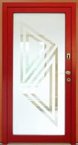 Dřevohliníkové vchodové dveře - konstrukce KLASIK