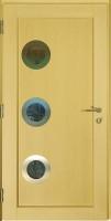 Dřevohliníkové vchodové dveře PROGRESSION - STYLE, zevnitř, vzor KREMS