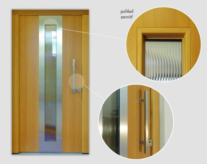 Dřevěné vchodové dveře ELEGANT