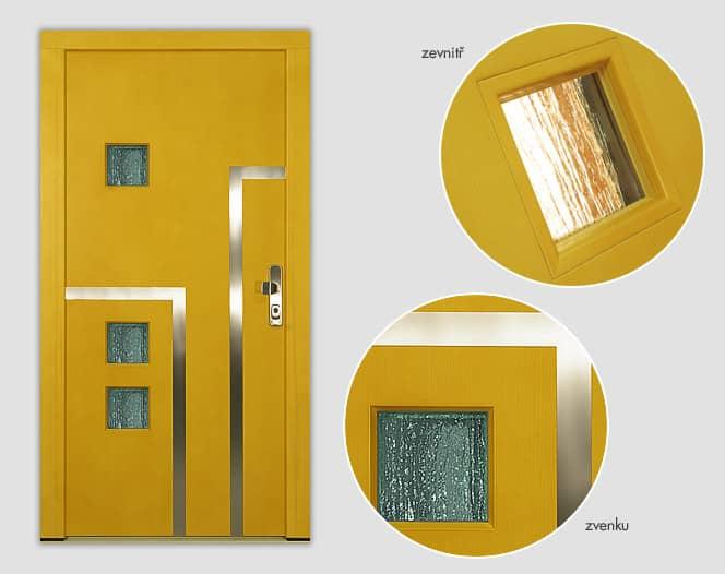 Dřevěné vchodové dveře IRIS