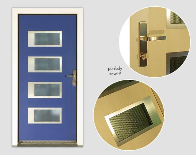 Dřevohliníkové vchodové dveře NAVY