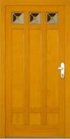CARRE - dřevěné vchodové dveře, sklo s barevným fusingem a fritou