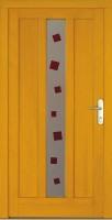 CUYO - dřevěné vchodové dveře, sklo s barevným fusingem