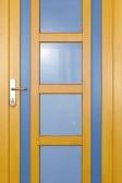 DIAMO - dřevěné vchodové dveře, barevná varianta (smrk)