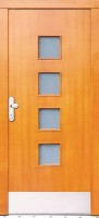 NUOVO- sendvičové vchodové dveře  (již jsou vyráběny bez rámečku kolem skla - moderní hladký profil)