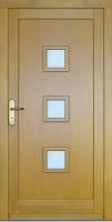 SOLION 2003 - dřevěné vchodové dveře (meranti)