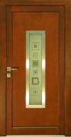 RITA - vchodové dveře KLASIK, pískované sklo se vzorem