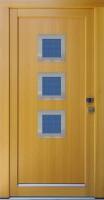 FATIMA - vchodové dveře z modřínu s nerez rámečky