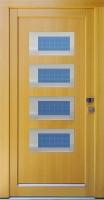 NIKOL - vchodové dveře z modřínu s nerez rámečky